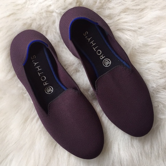 Rothys Purple Solid Loafer Flats Size 5